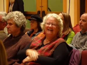 Dianne in audience Still on Fire 20141108