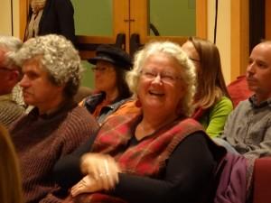 Dianne in audience Still on Fire 20141108